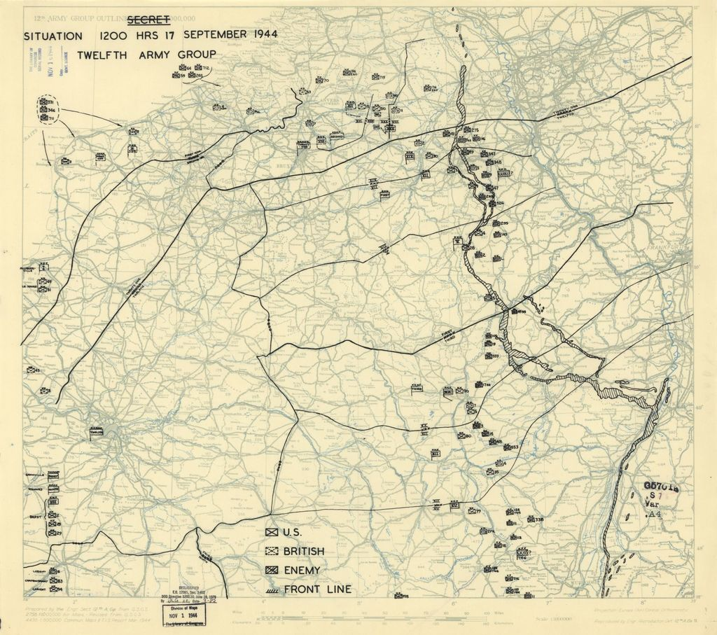 [September 17, 1944], HQ Twelfth Army Group situation map.