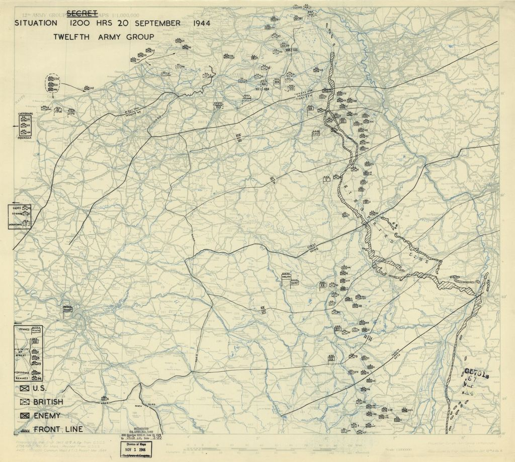 [September 20, 1944], HQ Twelfth Army Group situation map.