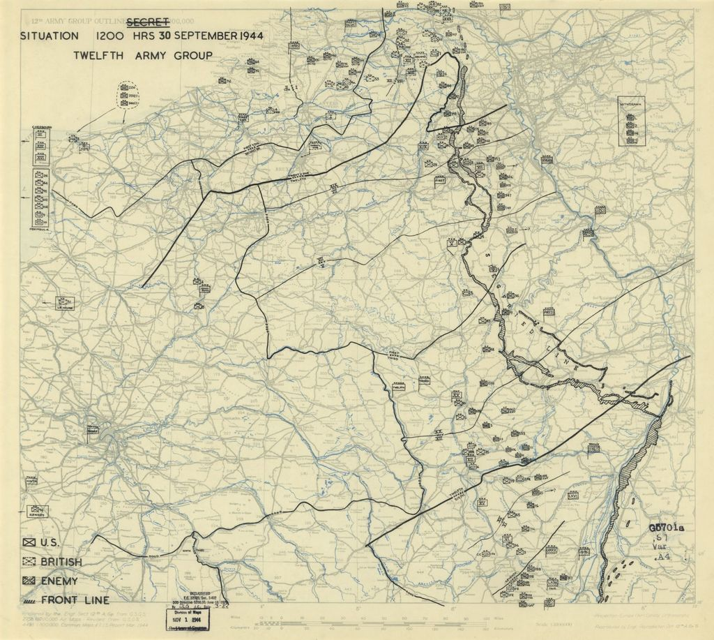 [September 30, 1944], HQ Twelfth Army Group situation map.