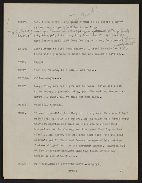Alan Lomax Collection, Manuscripts, CBS, 1945, The Land is Bright