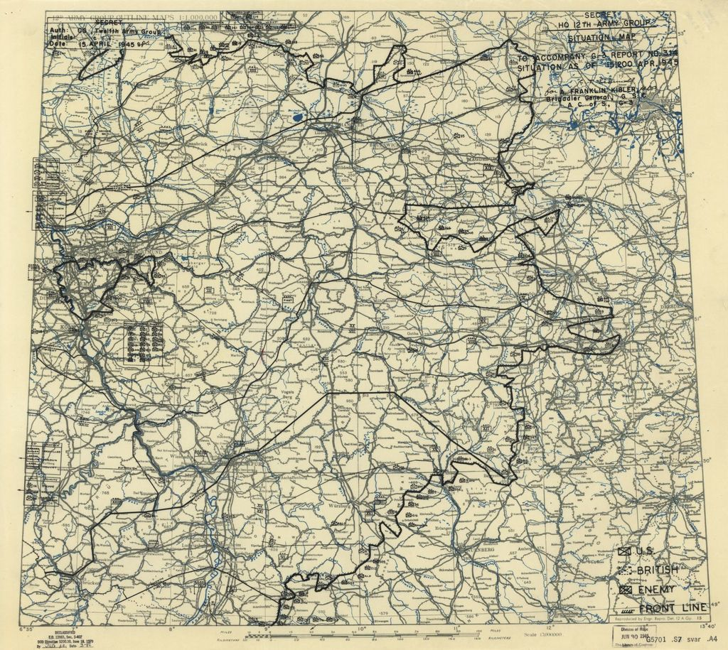 [April 15, 1945], HQ Twelfth Army Group situation map.