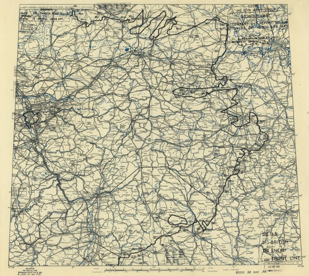 [April 17, 1945], HQ Twelfth Army Group situation map.