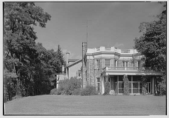 Franklin D. Roosevelt, residence in Hyde Park, New York. Residence