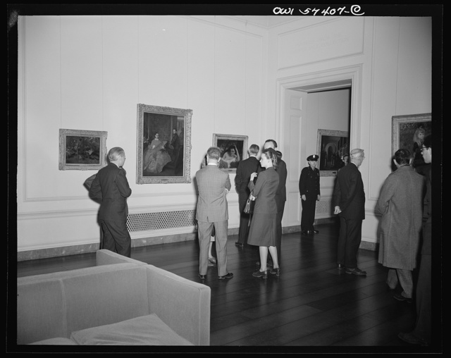 French journalists visit the National Gallery of Art, Washington, D.C.