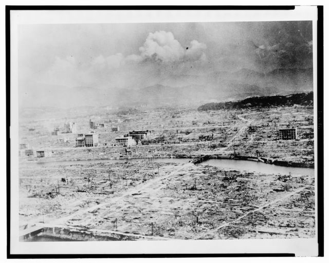 General panoramic view of Hiroshima after the bomb ... shows the devastation ... about 0.4 miles ... / official U.S. Army photo.
