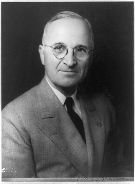 Harry S. Truman, head-and-shoulders portrait, facing front]