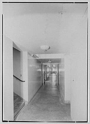 Hoffmann-LaRoche Inc., Nutley, New Jersey. Building 42, long corridor