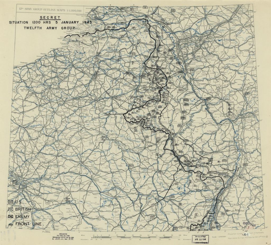 [January 5, 1945], HQ Twelfth Army Group situation map.