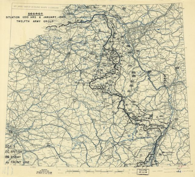 [January 6, 1945], HQ Twelfth Army Group situation map.