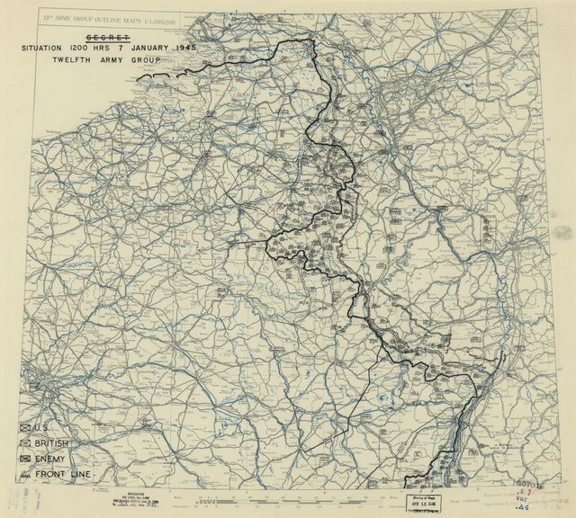 [January 7, 1945], HQ Twelfth Army Group situation map.