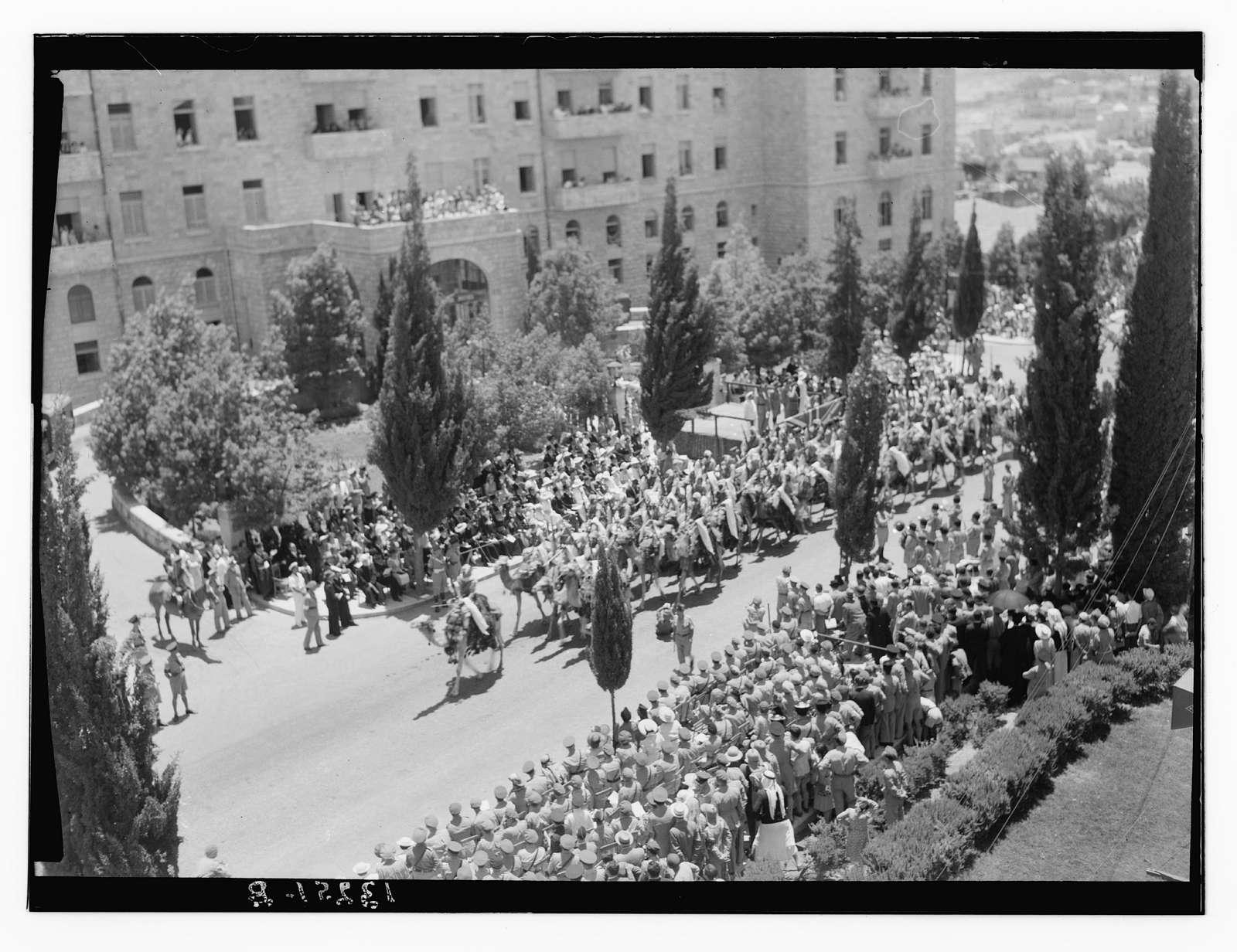King George VI, birthday parade & presentations, June 14, 1945
