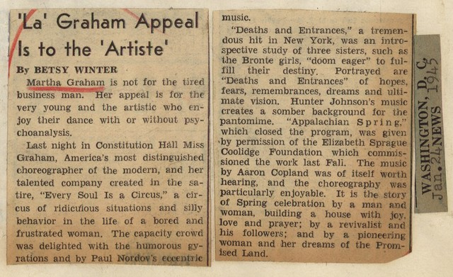 """"""" La"""" Graham Appeal is to the """"Artiste"""""""