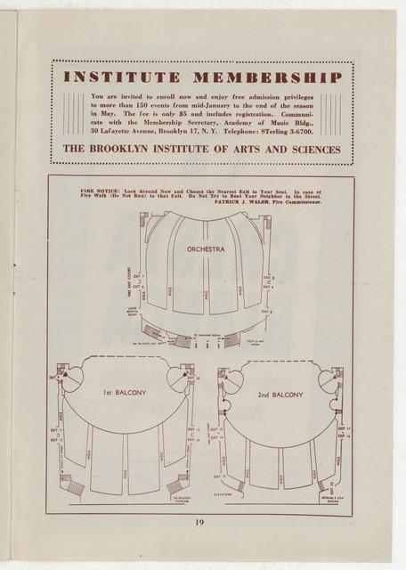 [ Martha Graham and Dance Company, Brookyln Academy of Music, Feburary 6, 1945]