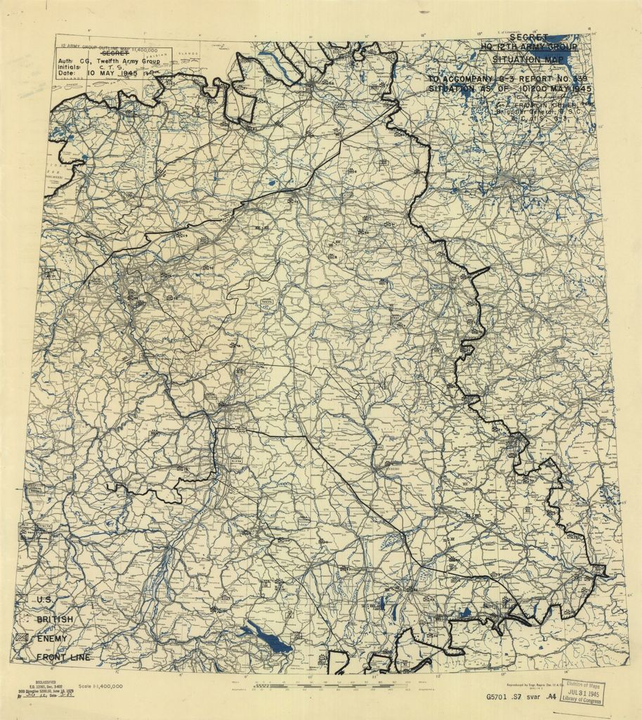 [May 10, 1945], HQ Twelfth Army Group situation map.