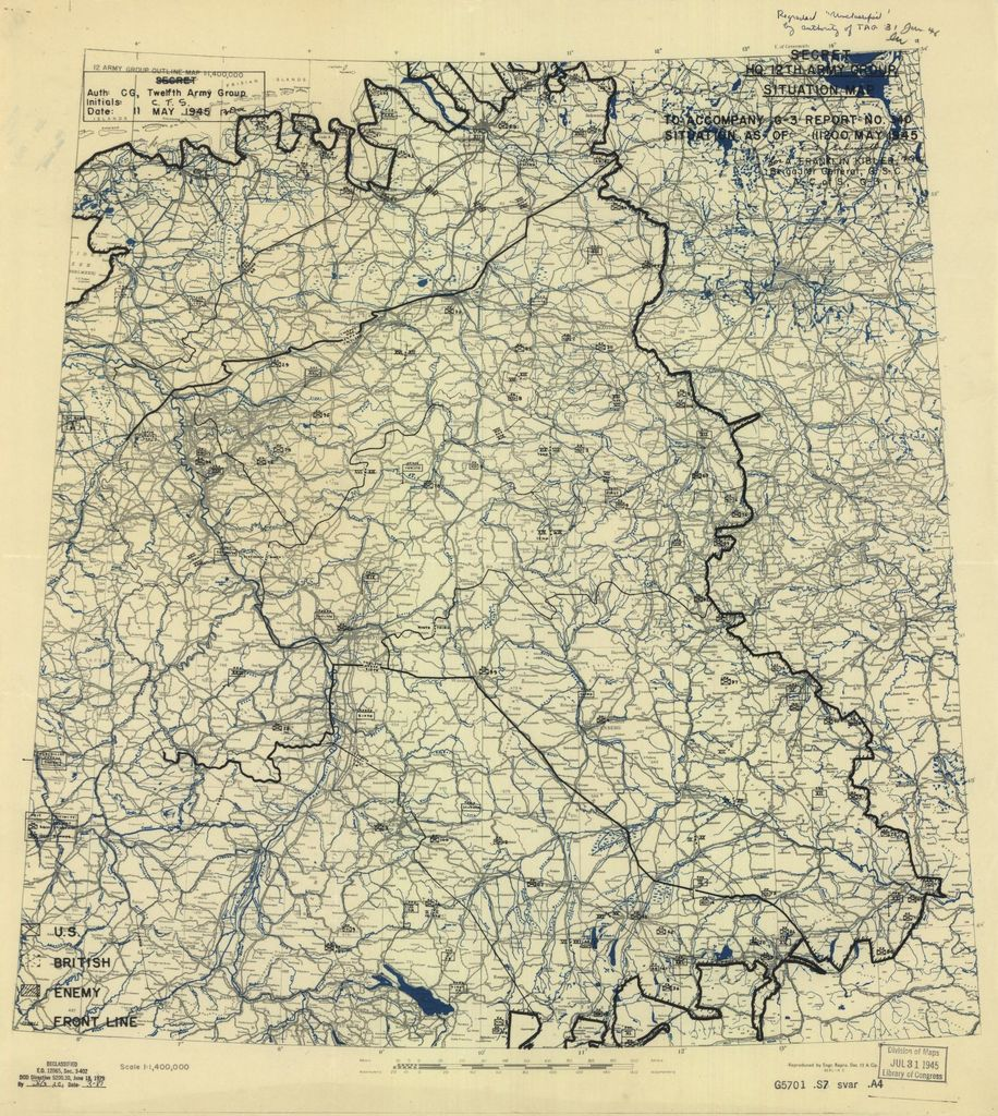 [May 11, 1945], HQ Twelfth Army Group situation map.