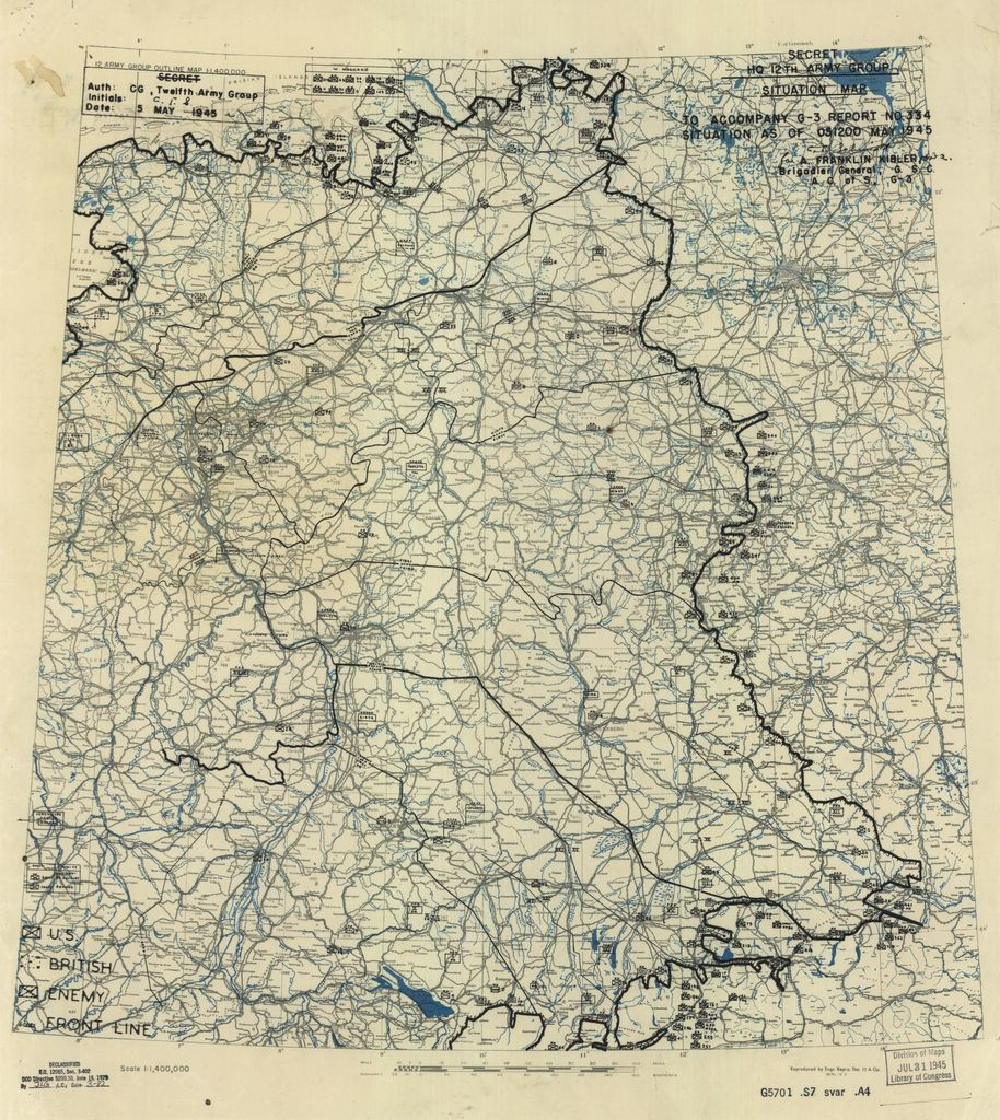 [May 5, 1945], HQ Twelfth Army Group situation map.