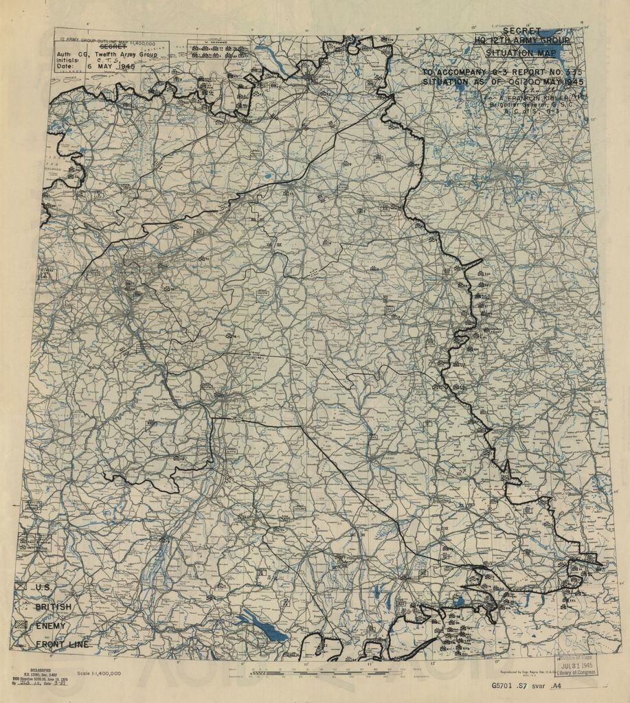 [May 6, 1945], HQ Twelfth Army Group situation map.