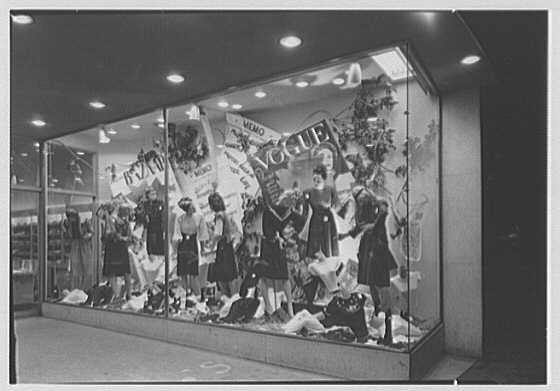 Adler's, business at 990 Flatbush Ave., Brooklyn, New York. Show window