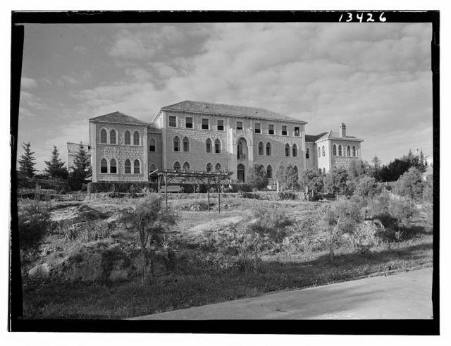 Beirut, Junior Girls' College, administrative bldg. [i.e., building], from N.E.