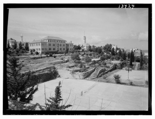 Beirut, Junior Girls' College, administrative bldg. [i.e., building], north side, tennis courts
