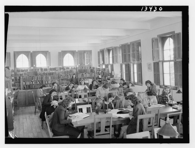 [Beirut, Junior Girls' College, library]