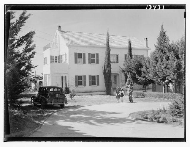 Beirut, Junior Girls' College, principal's house, Rev. & Mrs. W. Stoltzfus & Lawrun [?], daughter