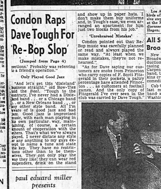 Condon Raps Tough for 'Re-bop Slop'