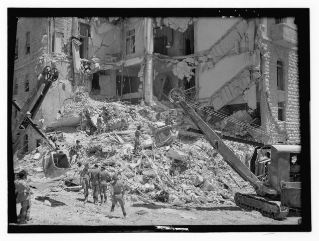 Crash of Hotel King David on Monday, July 22, 1946