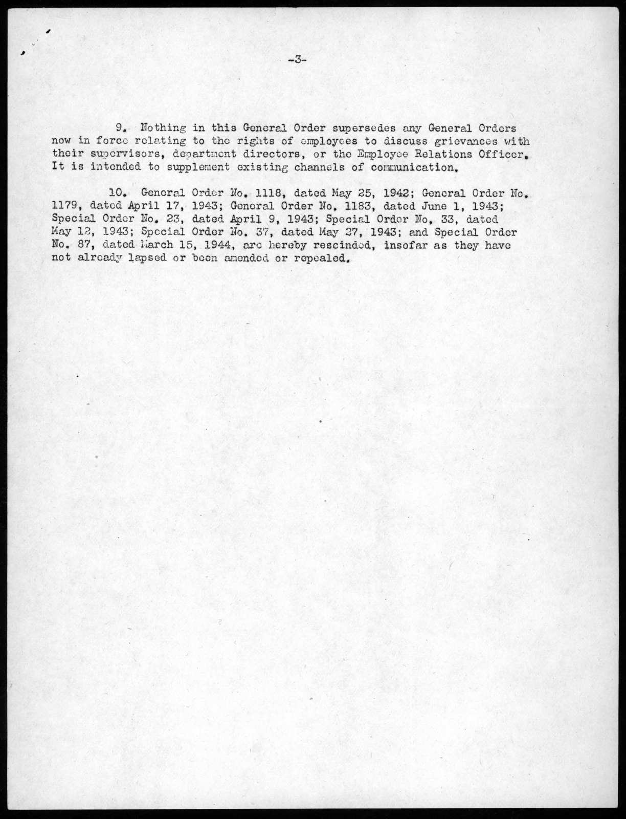 General Order No. 1308, Librarian of Congress, Library of Congress, December 5, 1946