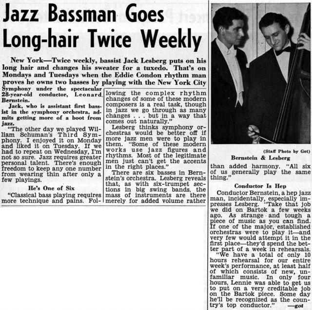 Jazz Bassman Goes Long-hair Twice Weekly