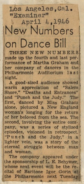 New Numbers on Dance Bill