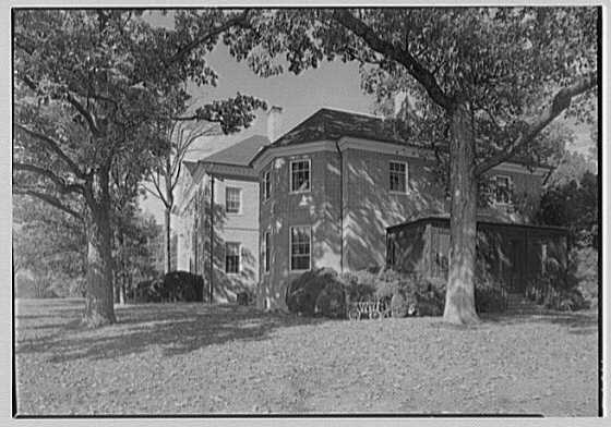 Paul Mellon, residence in Upperville, Virginia. Porch end of house