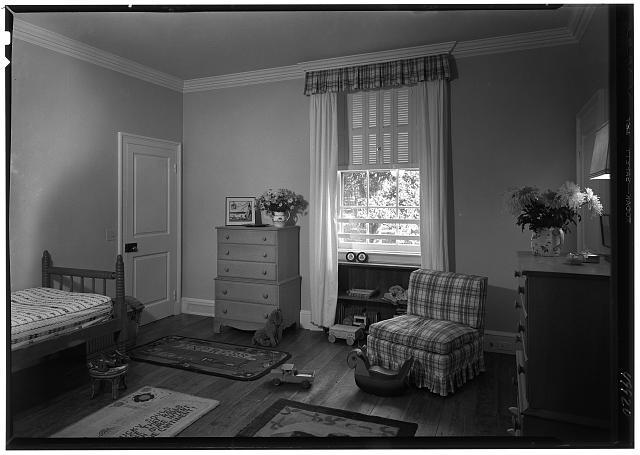 Paul Mellon, residence in Upperville, Virginia. Tim's room