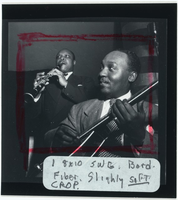 [Portrait of Al Casey and Eddie (Emmanuel) Barefield, Café Society (Downtown), New York, N.Y., between 1946 and 1948]