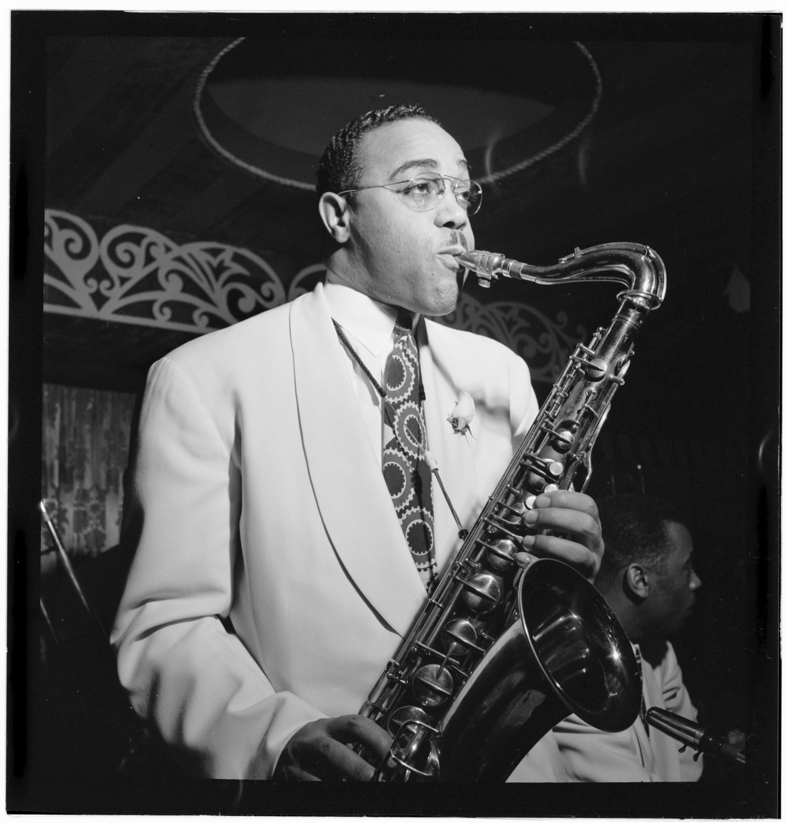 [Portrait of Al Sears, Aquarium, New York, N.Y., ca. Nov. 1946]