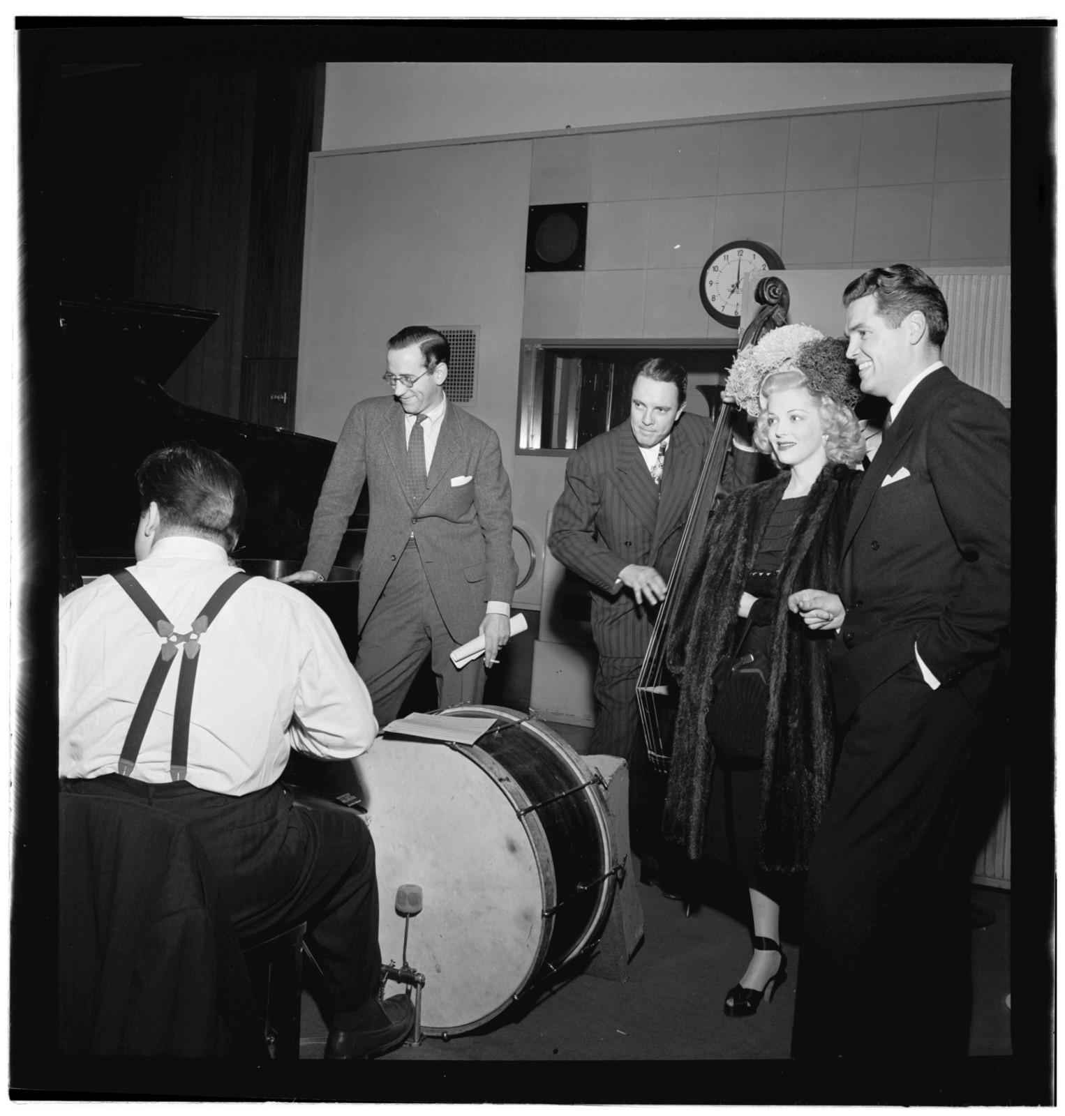 [Portrait of Bob Haggart, Marion Hutton, and Gordon MacRae, New York, N.Y., between 1946 and 1948]