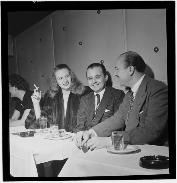 [Portrait of Bud Freeman, Eddie Condon's(?), New York, N.Y., between 1946 and 1948]