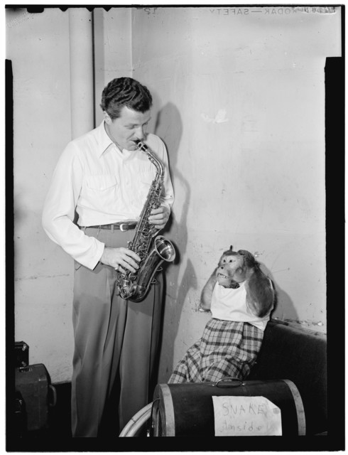 [Portrait of Charlie Barnet and Re-Bop, New York, N.Y., ca. Aug. 1946]