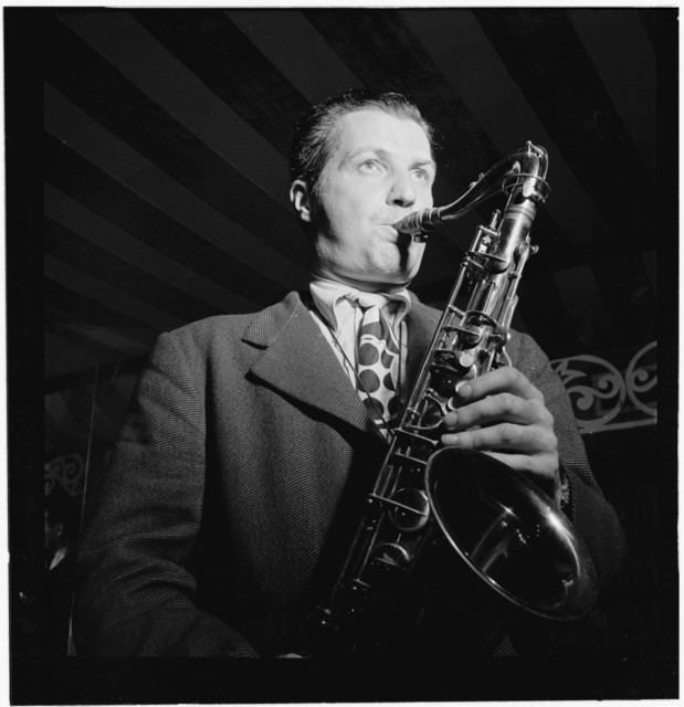 [Portrait of Charlie Barnet, WOR broadcast, Aquarium, New York, N.Y., ca. Aug. 1946]
