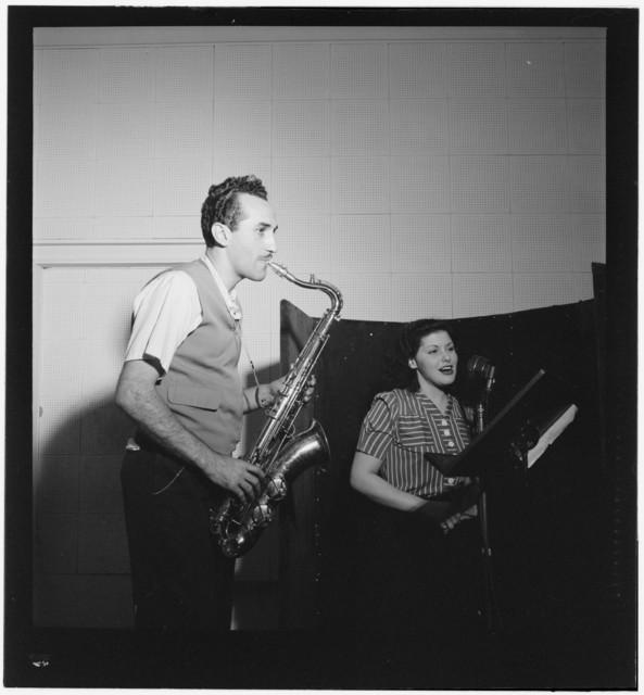 [Portrait of Charlie Ventura and Lilyann Carol, National studio, New York, N.Y., ca. Oct. 1946]