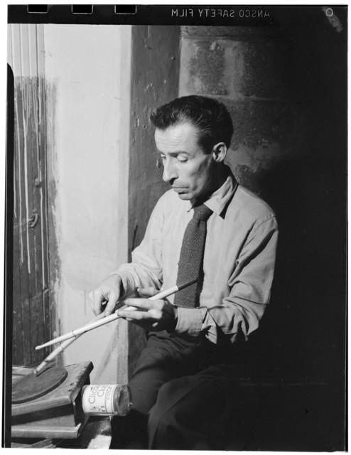 [Portrait of Dave Tough, Eddie Condon's (basement), New York, N.Y., ca. 1946]