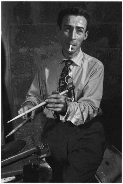 [Portrait of Dave Tough, Eddie Condon's (basement), New York, N.Y., ca. Nov. 1946]