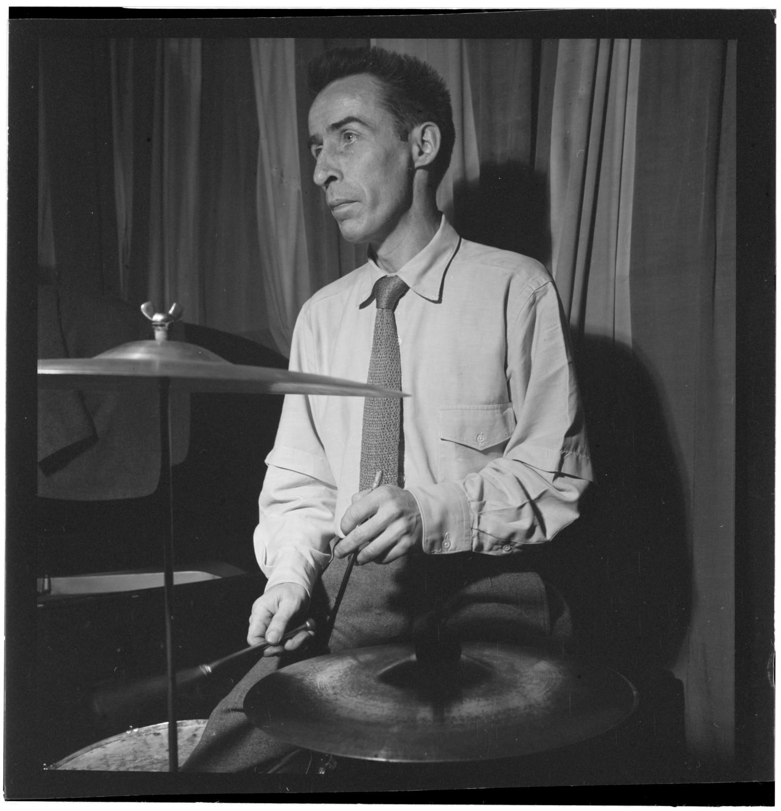 [Portrait of Dave Tough, Eddie Condon's, New York, ca. Sept. 1946]