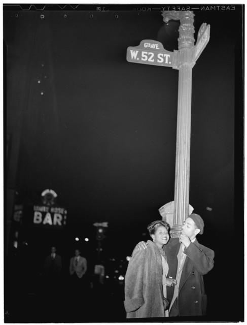 [Portrait of Dizzy Gillespie, 52nd Street, New York, N.Y., ca. May 1946]