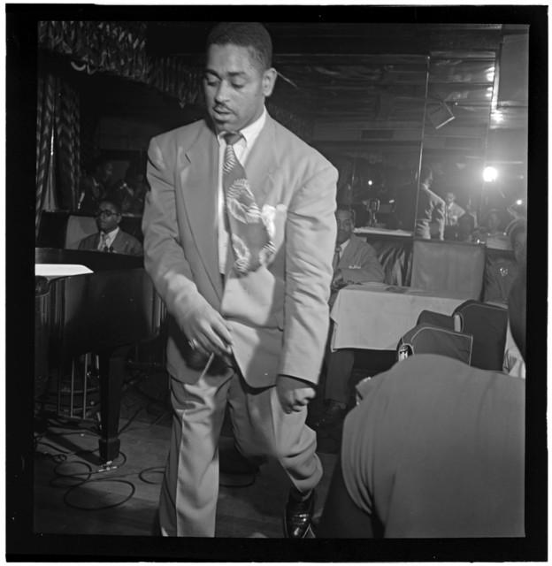 [Portrait of Dizzy Gillespie, Downbeat, New York, N.Y., between 1946 and 1948]