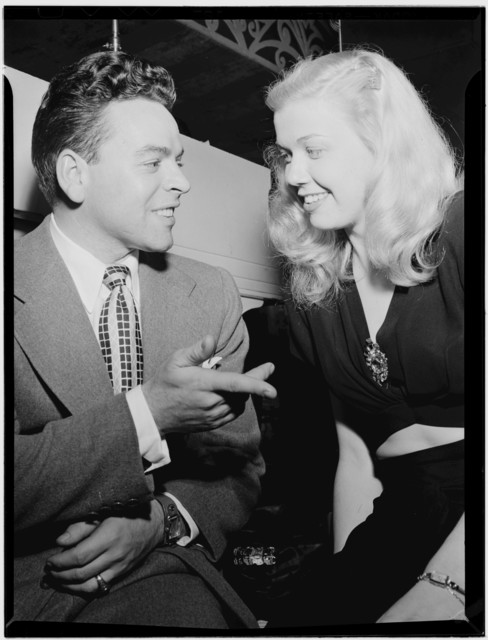 [Portrait of Doris Day and Les Brown, Aquarium, New York, N.Y., ca. July 1946]
