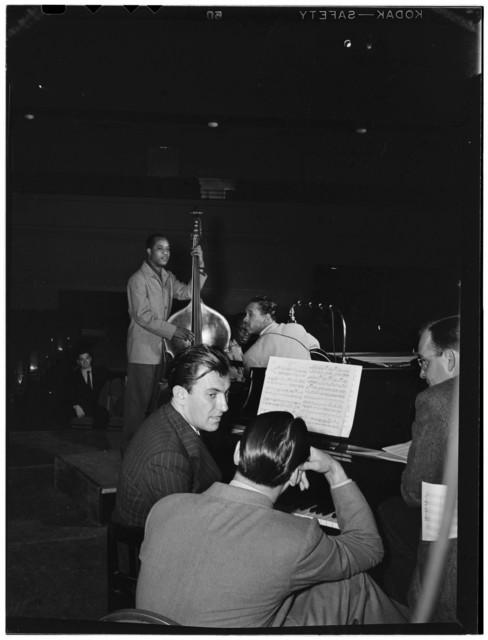 [Portrait of Eddy Duchin, Wesley Prince, Nat King Cole, and Oscar Moore, New York, N.Y., ca. July 1946]