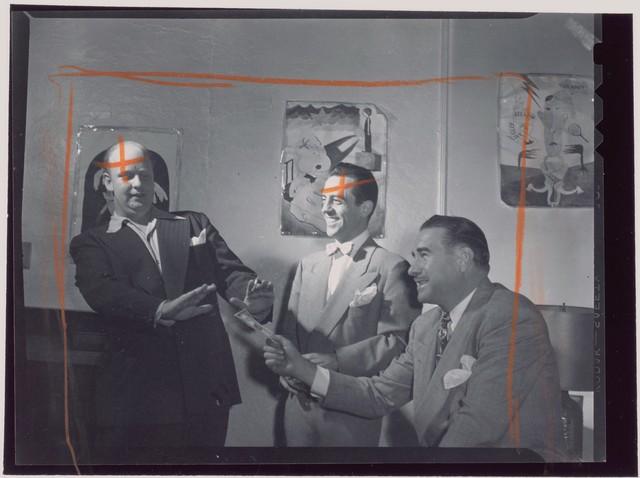 [Portrait of Edwin A. Finckel and Boyd Raeburn, Edwin A. Finckel's home, Greenwich Village, New York, N.Y., ca. July 1946]