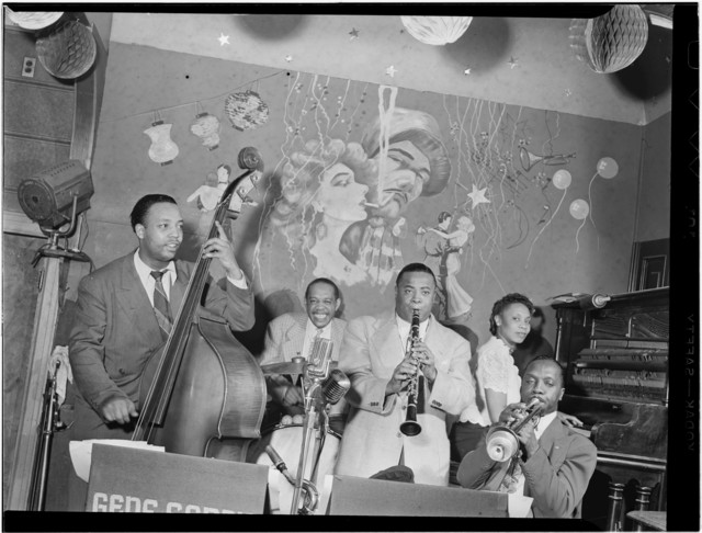 [Portrait of Gene Sedric, Danny Settle, Slick Jones, Mary Lou Williams, and Lincoln Mills, The Place, New York, N.Y., ca. July 1946]