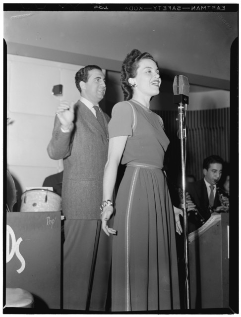 [Portrait of Gracie Barry and Dick Stabile, New York, N.Y., between 1946 and 1948]